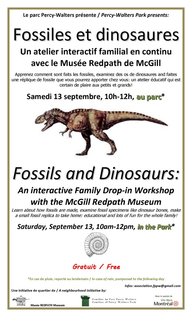 Redpath Museum Fossils and Dinosaur Workshop